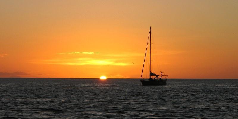 Los Testigos, Sonnenuntergang