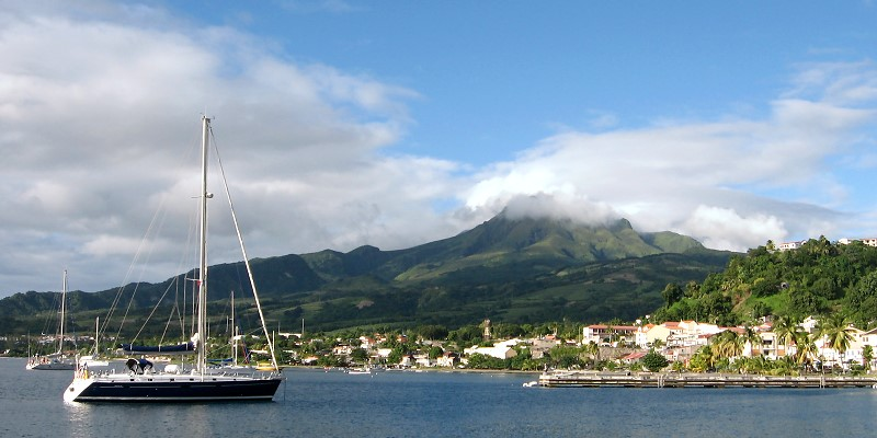 Vor Anker, St. Pierre, Martinique