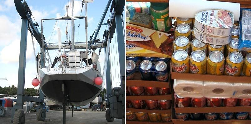 Werft und Einkäufe auf St. Maarten