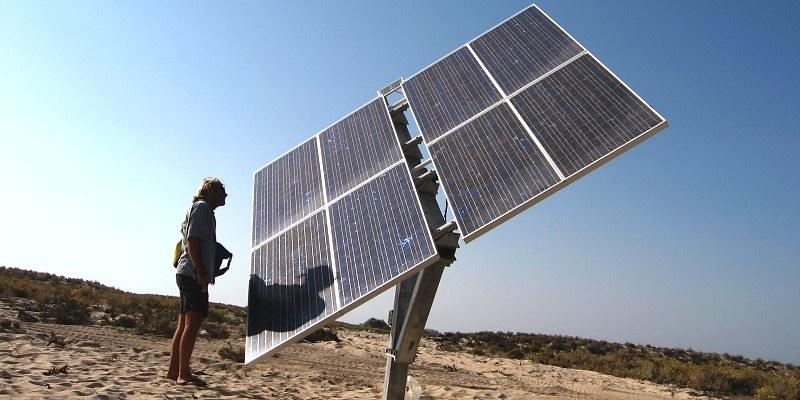 Solarpaneele an der Algarve