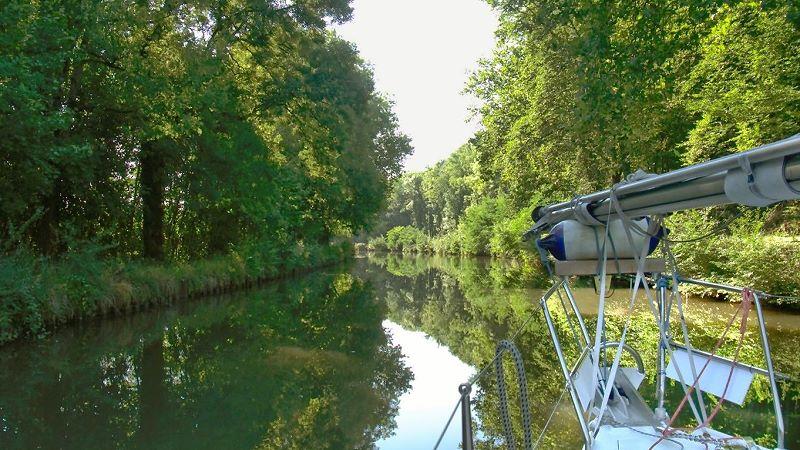 Mit dem Segelboot im Vogesenkanal, ein Märchen
